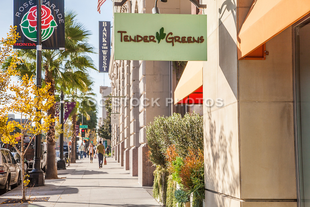 Walking Downtown Pasadena on Colorado Boulevard During Fall