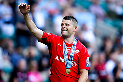 Richard Wigglesworth of Saracens celebrates after winning in the Premiership Rugby Final against Exeter Chiefs - Mandatory by-line: Robbie Stephenson/JMP - 01/06/2019 - RUGBY - Twickenham Stadium - London, England - Exeter Chiefs v Saracens - Gallagher Premiership Rugby Final
