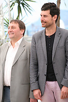 Actors Patrick D'assumçao, Christophe Paou,. at the L'inconnu Du Lac film photocall at the Cannes Film Festival 17th May 2013