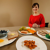 Thomas Wells   BUY AT PHOTOS.DJOURNAL.COM<br /> Ginger Mark, Poached egg, blueberries and wheat toast<br /> A pear, green salad with oil and vingear dressing, carrots, and salmon<br /> Pork tenderloin, strawberries and Broccoili with butter<br /> Snack of Almonds