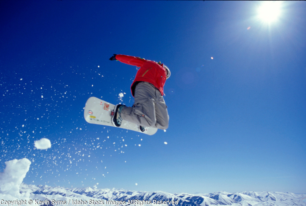 THIS PHOTO IS AVAILABLE FOR WEB DOWNLOAD ONLY. PLEASE CONTACT US FOR A LARGER PHOTO. Idaho. Snowboarding. Michelle Hunt  MR