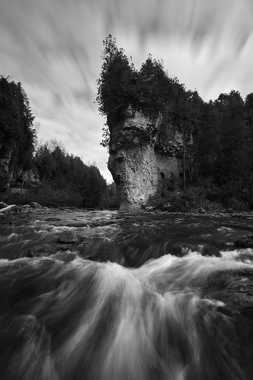 """Lover's Leap"" in the Elora Gorge."