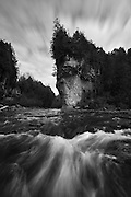 """""""Lover's Leap"""" in the Elora Gorge."""