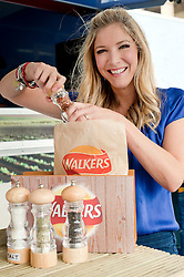 Walkers Fresh Hot Crisp Tour comes to Barkers Pool Sheffield as Masterchef winner Lisa Faulkner Shows people of Sheffield the three simple things that go into making a bag of crisps..10th September2011 Image © Paul David Drabble