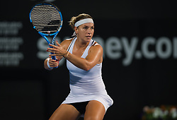 January 7, 2019 - Sidney, AUSTRALIA - Dominika Cibulkova of Slovakia in action during the first round at the 2019 Sydney International WTA Premier tennis tournament (Credit Image: © AFP7 via ZUMA Wire)