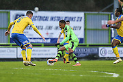 Forest Green Rovers Keanu Marsh-Brown(7) on the ball during the Vanarama National League match between Forest Green Rovers and Torquay United at the New Lawn, Forest Green, United Kingdom on 1 January 2017. Photo by Shane Healey.