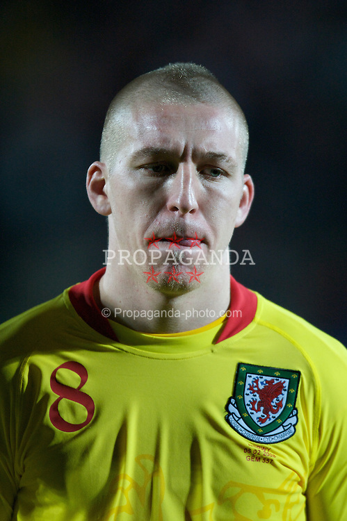WREXHAM, WALES - Wednesday, February 6, 2008: Wales' Freddy Eastwood before the international friendly match against Norway at the Racecourse Ground. (Photo by David Rawcliffe/Propaganda)