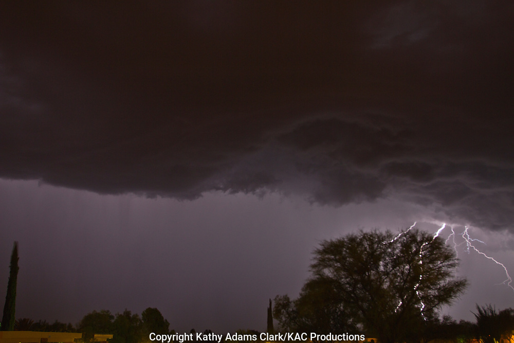 Lightning storm, summer storm, electrical storm, monsoon rains, Green Valley, Arizona,