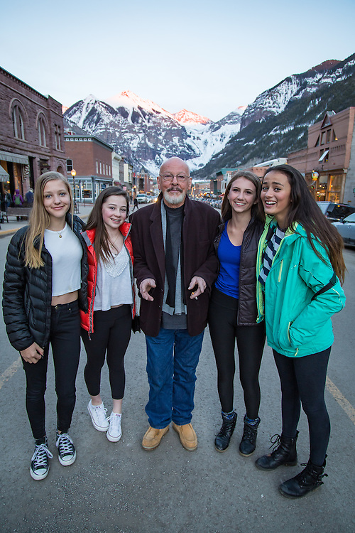 Dean joins visitors celebrating their time in Telluride