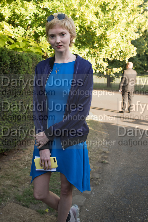 LILY COLE, Opening of Christo and Jeanne-Claude: ,Barrels and the Mastaba 1958 - 2018, London, 21 June 2018