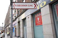 Blood donor clinic for the Irish Blood Transfusion Service in D'Olier Street in Dublin Ireland