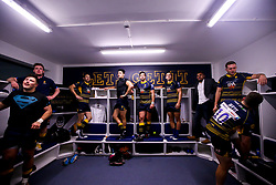 Worcester Warriors celebrate in the changing room after beating Harlequins - Mandatory by-line: Robbie Stephenson/JMP - 23/11/2018 - RUGBY - Sixways Stadium - Worcester, England - Worcester Warriors v Harlequins - Gallagher Premiership Rugby