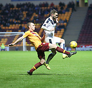 Dundee&rsquo;s Kevin Thomson and Motherwell&rsquo;s Liam Grimshaw - Motherwell v Dundee - Ladbrokes Premiership at Fir Park<br /> <br /> <br />  - &copy; David Young - www.davidyoungphoto.co.uk - email: davidyoungphoto@gmail.com
