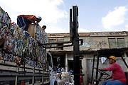 Belo Horizonte_MG, Brasil...Pessoas trabalhando na Comunidade Associada para a Reciclagem de Material da Regiao da Pampulha (COMARP)...People working in the Comunidade Associada para a Reciclagem de Material da Regiao da Pampulha (COMARP)...Foto: VICTOR SCHWANER /  NITRO