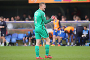 Northampton Town goalkeeper Adam Smith (1) celebrating win during the EFL Sky Bet League 1 match between AFC Wimbledon and Northampton Town at the Cherry Red Records Stadium, Kingston, England on 11 March 2017. Photo by Matthew Redman.
