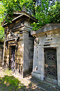 Mausolea at Père Lachaise Cemetery, Paris, France