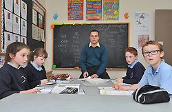 Alan Plunkett pictured teaching in Killawalla National School,<br /> Pic Conor McKeown