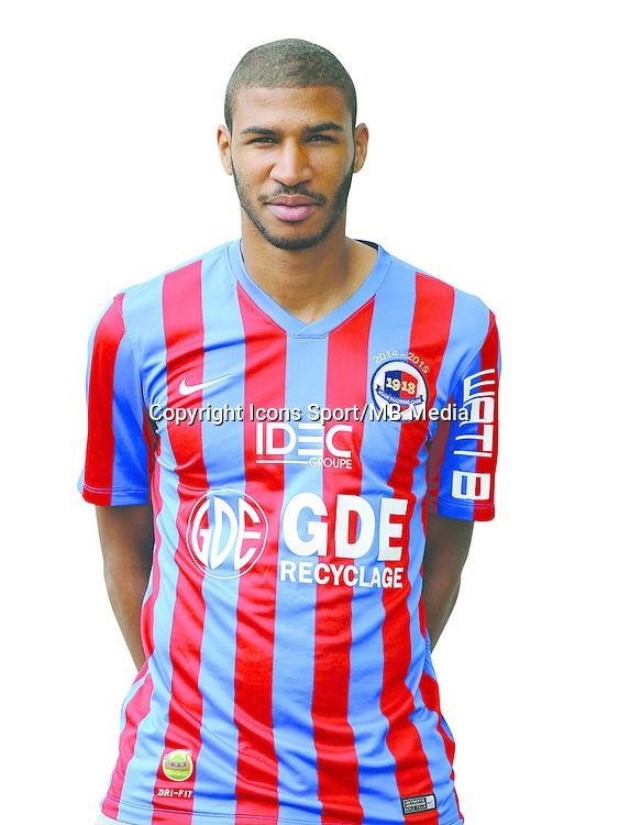 Jordan ADEOTI - 17.09.2014 - Portrait officiel - Caen - Ligue 1<br /> Photo : Icon Sport