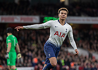 Football - 2018 / 2019 EFL Carabao Cup (League Cup) - Quarter-Final: Arsenal vs. Tottenham Hotspur<br /> <br /> Dele Alli (Tottenham FC) runs off in celebration after scoring <br />  at The Emirates.<br /> <br /> COLORSPORT/DANIEL BEARHAM