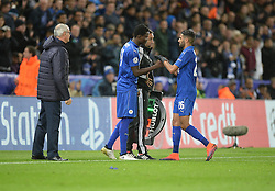 Daniel Amartey of Leicester City replaces Riyad Mahrez of Leicester City - Mandatory by-line: Alex James/JMP - 18/10/2016 - FOOTBALL - King Power Stadium - Leicester, England - Leicester City v FC Copenhagen - UEFA Champions League