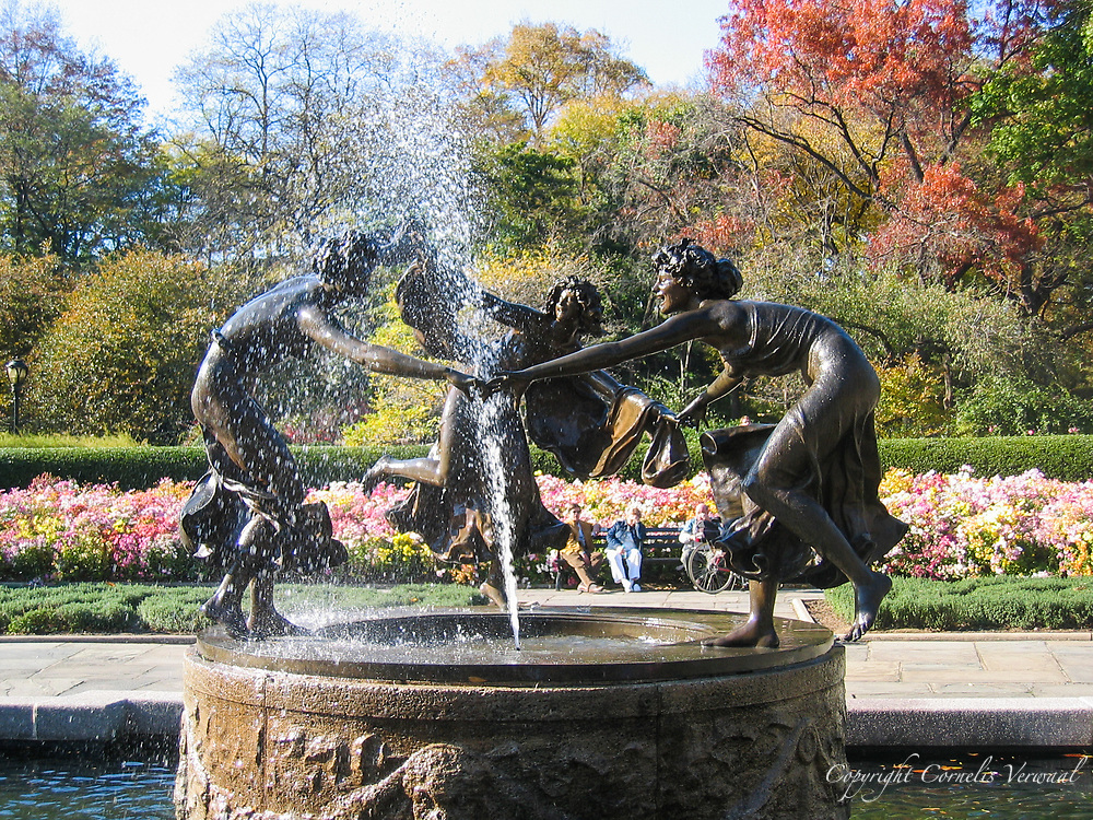 Untermyer Fountain with Three Dancing Maidens by Walter Schott in the Conservatory Garden