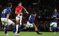 Photo: Paul Thomas.<br /> Manchester United v Inter Milan. Pre Season Friendly. 01/08/2007.<br /> <br /> Cristiano Ronaldo of Utd shoots.