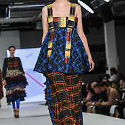 Designer Kirstie Johnson at the Best of Graduate Fashion Week showcases at the Graduate Fashion Week 2018, June 6 2018 at Truman Brewery, London, UK.
