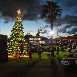 Lighting of the Christmas Tree at Yacht Haven Grande