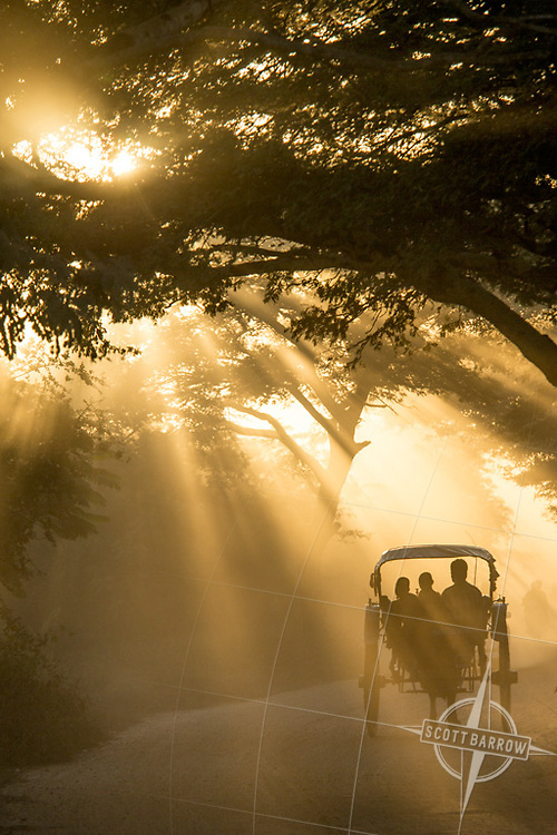 Taking the dusty road to the pagoda for sunset in Bagan, Myanmar.
