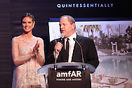 ANTIBES, FRANCE - MAY 24:  Heidi Klum and Harvey Weinstein attend amfAR's Cinema Against AIDS auction at Hotel Du Cap on May 24, 2012 in Antibes, France.  (Photo by Tony Barson/FilmMagic)