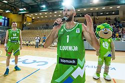 Nebosja Joksimovic of Slovenia during friendly basketball match between National teams of Slovenia and Ukraine at day 1 of Adecco Cup 2015, on August 21 in Koper, Slovenia. Photo by Grega Valancic / Sportida