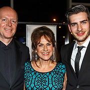 NLD/Hilversum/20141104 - Filmpremiere Night Eyes, regisseur David Cocheret met zijn ouders Cilly Dartell en partner Jan Cocheret