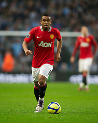 MANCHESTER, ENGLAND - Sunday, January 8, 2012: Manchester United's Anderson in action against Manchester City during the FA Cup 3rd Round match at the City of Manchester Stadium. (Pic by David Rawcliffe/Propaganda)