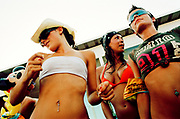 Group of pretty girls dancing, Bora Bora Bar, Playa D'en Bossa, Ibiza 2005
