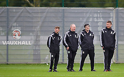 NEWPORT, WALES - Saturday, May 24, 2014: Coaches during the Football Association of Wales' National Coaches Conference 2014 at Dragon Park FAW National Development Centre. (Pic by David Rawcliffe/Propaganda)