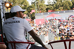 March 16, 2019 - LEWIS HAMILTON attending the F1 Driver Q&A Panel on Qualifying Saturday at the 2019 Formula 1 Australian Grand Prix on March 16, 2019 In Melbourne, Australia  (Credit Image: © Christopher Khoury/Australian Press Agency via ZUMA  Wire)