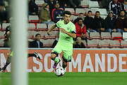 Manchester City midfielder Jesus Navas during the Capital One Cup match between Sunderland and Manchester City at the Stadium Of Light, Sunderland, England on 22 September 2015. Photo by Simon Davies.
