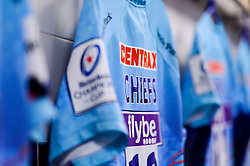 Chiefs shirt with Heineken Champions Cup branding on the shirts in the changing room prior to kick off - Mandatory by-line: Ryan Hiscott/JMP - 13/01/2019 - RUGBY - Sandy Park Stadium - Exeter, England - Exeter Chiefs v Castres - Heineken Champions Cup