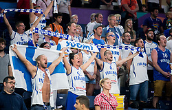 Supporters of Italy listening to the National anthem during basketball match between National Teams of Finland and Italy at Day 10 in Round of 16 of the FIBA EuroBasket 2017 at Sinan Erdem Dome in Istanbul, Turkey on September 9, 2017. Photo by Vid Ponikvar / Sportida