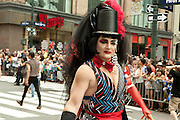 Participant in the 2011 Pride Parade in New York.