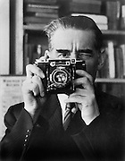 E.O. Hoppé with camera, 1936