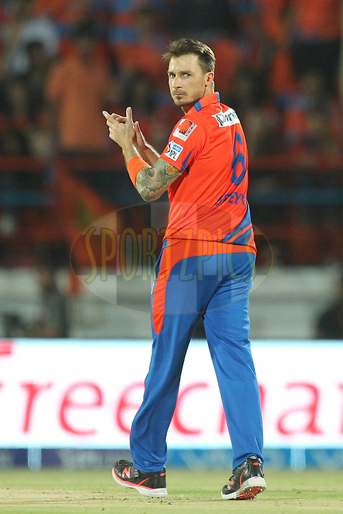 Dale Steyn of Gujrat Lions during match 15 of the Vivo IPL 2016 ( Indian Premier League ) between the Gujarat Lions and the Sunrisers Hyderabad held at Saurashtra Cricket Association Stadium, Rajkot, India on the 21st April 2016Photo by Prashant Bhoot  / IPL/ SPORTZPICS