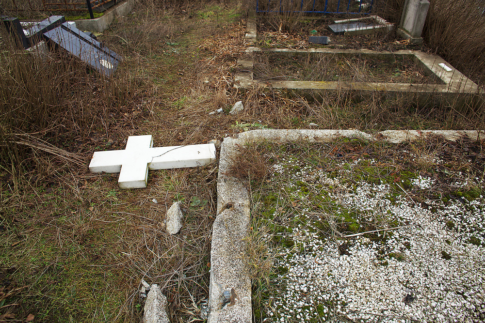 The serbian cemetery in the southern part of Mitrovica is off limits to the serbs, since they may be attacked when visiting the graves. Once every winter, an organized trip allows the families to visit the graves, where many have been upturned by Kosovo Albanians.
