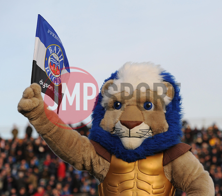 Bath Rugby's mascot, Maximus ahead of Bath's clash with Wasps at the Recreation Ground - Photo mandatory by-line: Paul Knight/JMP - Mobile: 07966 386802 - 10/01/2015 - SPORT - Rugby - Bath - The Recreation Ground - Bath Rugby v Wasps - Aviva Premiership