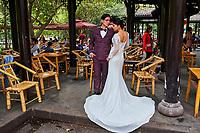 Chine, Province du Sichuan, Chengdu, maison de thé He Ming // China, Sichuan province, Chengdu, He Ming tea house