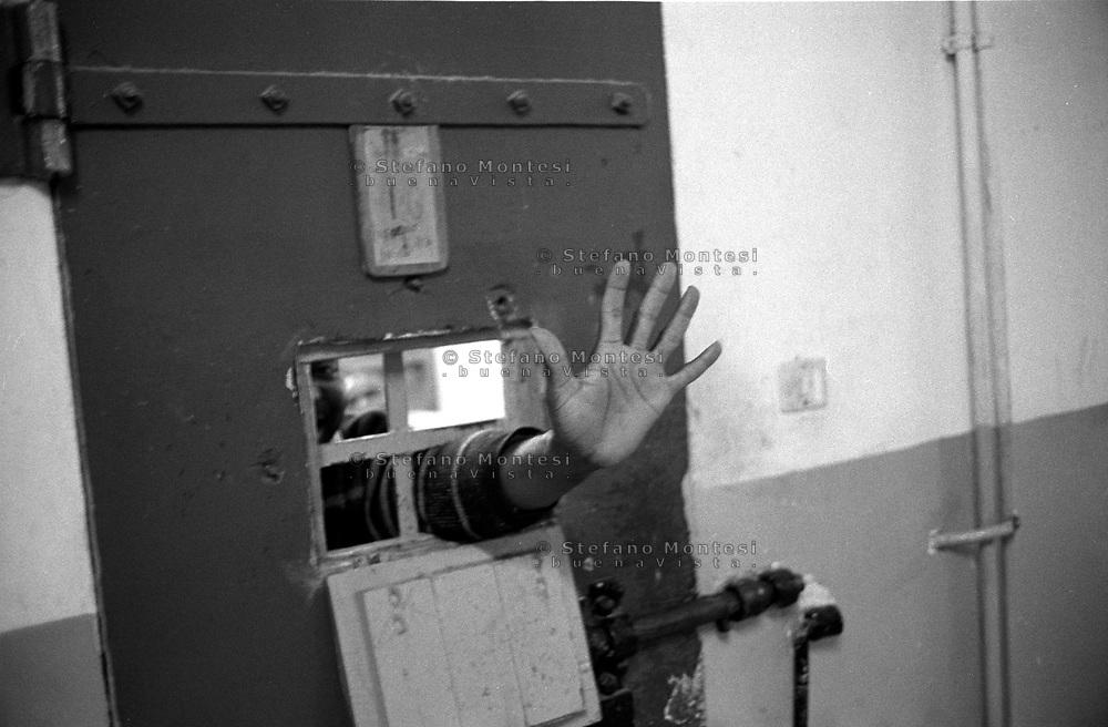Roma 2000.Carcere di Regina Coeli  .Detenuto in cella. Regina Coeli (Queen of Heaven) Prison.Prisoner in the cell