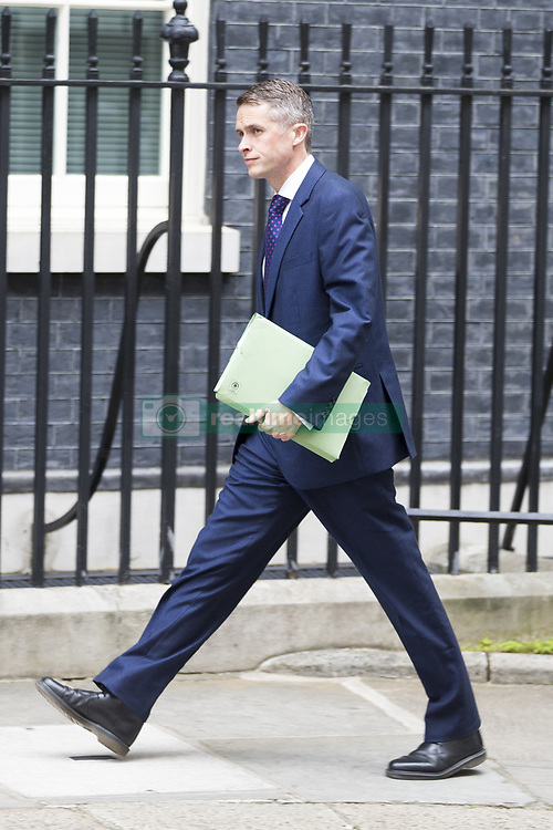 June 12, 2017 - London, London, UK - London UK. Chief whip of the Conservative party Gavin Williamson arrives at Downing Street ahead of Theresa May's first Cabinet meeting since the General Election this afternoon. (Credit Image: © Andrew Mccaren/London News Pictures via ZUMA Wire)