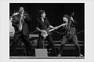 Bruce Springsteen with Clarence Clemons and Steve Van Zandt. Helsinki, Finland, June 16, 2003.