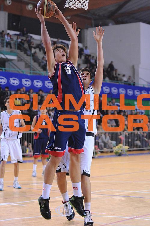 DESCRIZIONE : Bologna San Lazzaro Trofeo Bruna Malaguti Under 17 Finale Virtus Bologna Virtus Siena<br /> GIOCATORE : Amedeo Tessitori<br /> SQUADRA : Virtus Siena <br /> EVENTO : Trofeo Bruna Malaguti Under 17<br /> GARA : Virtus Bologna Virtus Siena<br /> DATA : 09/01/2011<br /> CATEGORIA : tiro<br /> SPORT : Pallacanestro<br /> AUTORE : Agenzia Ciamillo-Castoria/M.Marchi<br /> Galleria : Lega Basket A 2010-2011<br /> Fotonotizia : Bologna San Lazzaro Trofeo Bruna Malaguti Under 17 Finale Virtus Bologna Virtus Siena <br /> Predefinita :