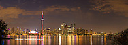 60912-00318 Toronto skyline at night from Toronto Island Park Toronto, Ontario Canada